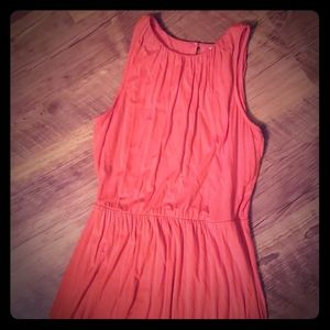 Oldnavy orange maxi dress with sinched waistband
